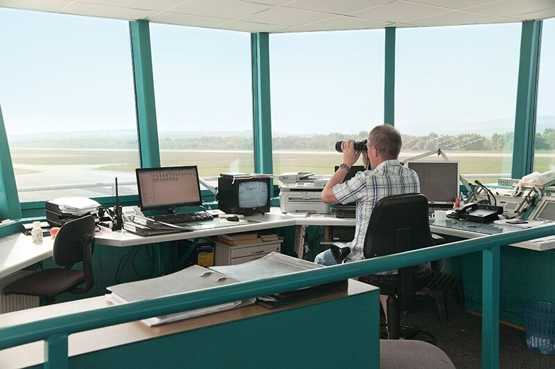 working at the tower - airfield Kindel