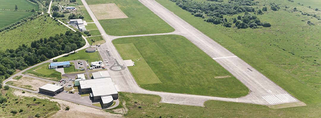 The airfield Eisenach- Kindel from aerial perspective